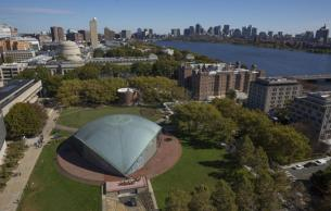 Kresge Auditorium aerial view