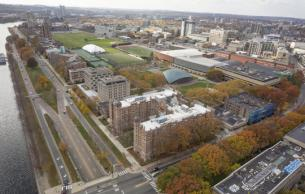 MIT west campus aerial