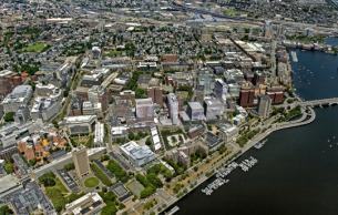 Kendall Square Initiative Aerial (Courtesy Neoscape)