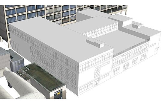 Looking east at Bldg 31 (Imai Keller Moore Architects)