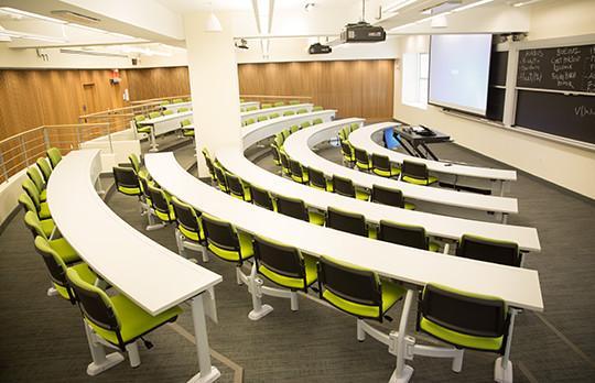 Building E52 classroom