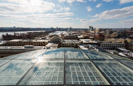 View from MIT Dome with restored oculus