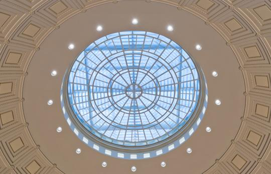 Restored oculus in MIT Dome