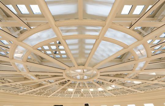 MIT Dome oculus interior during renovation