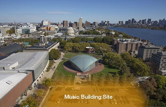 Site of the new Music Building (Photo by AboveSummit with Christopher Harting)