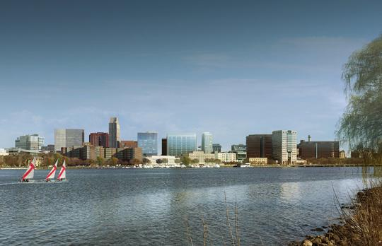 Kendall Square from the Charles