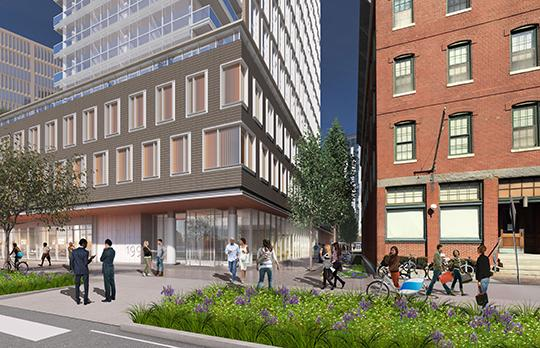 Site 1 Street view (Courtesy Elkus Manfredi Architects)