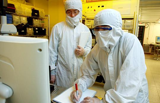 Photo of researchers in a lab