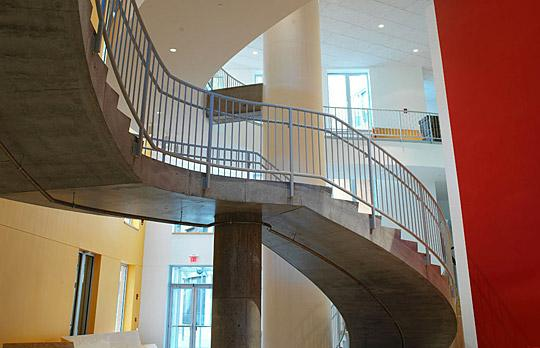 Stata Center interior stairwell photo