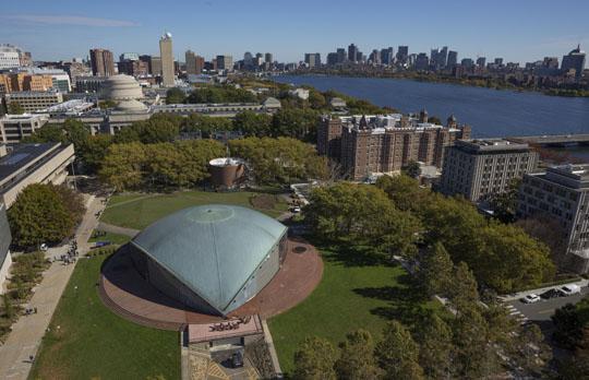Kresge Auditorium aerial view
