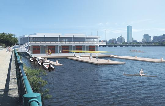 Exterior view, dock (Courtesy Bruner/Cott Architects and Peterson Architects)