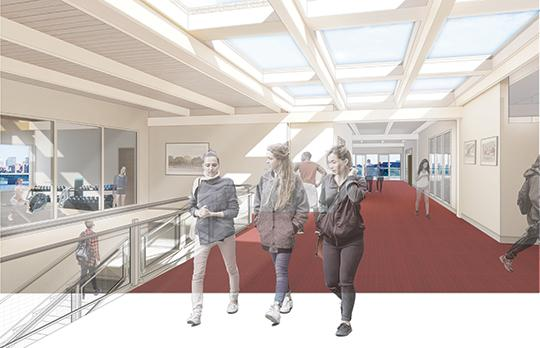 Interior view, main corridor (Courtesy Bruner/Cott Architects and Peterson Architects)