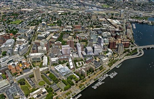 Kendall Square Initiative Aerial (Courtesy Neoscape)